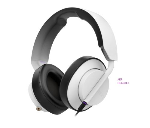 NZXT AER Wired Stero Headset White